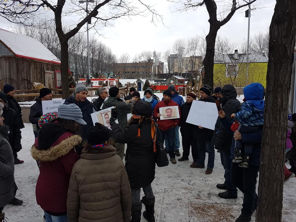 Rassemblement pour la libération de tous les détenus d'opinion à Montréal  le dimanche 09 décembre 2018 20258