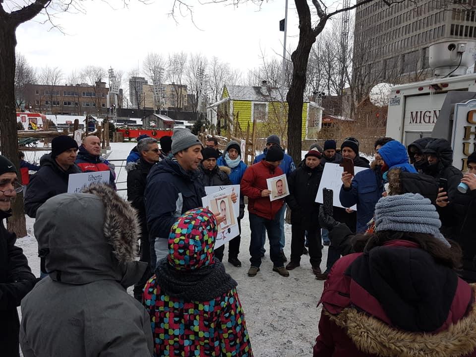 Rassemblement pour la libération de tous les détenus d'opinion à Montréal  le dimanche 09 décembre 2018 20260