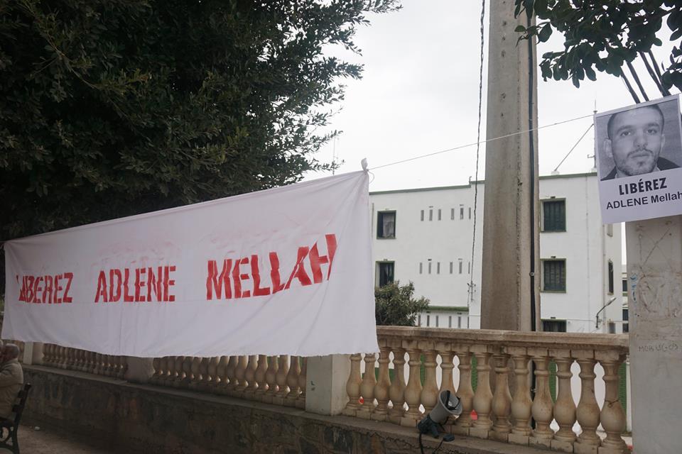 Rassemblement à Aokas pour demander la libération de Adlene Mellah et de tous les détenus d'opinion 20412