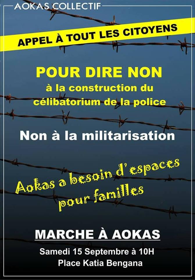 Marche contre la construction d'un Célibatorium à Aokas le 15 septembre 2018 2059