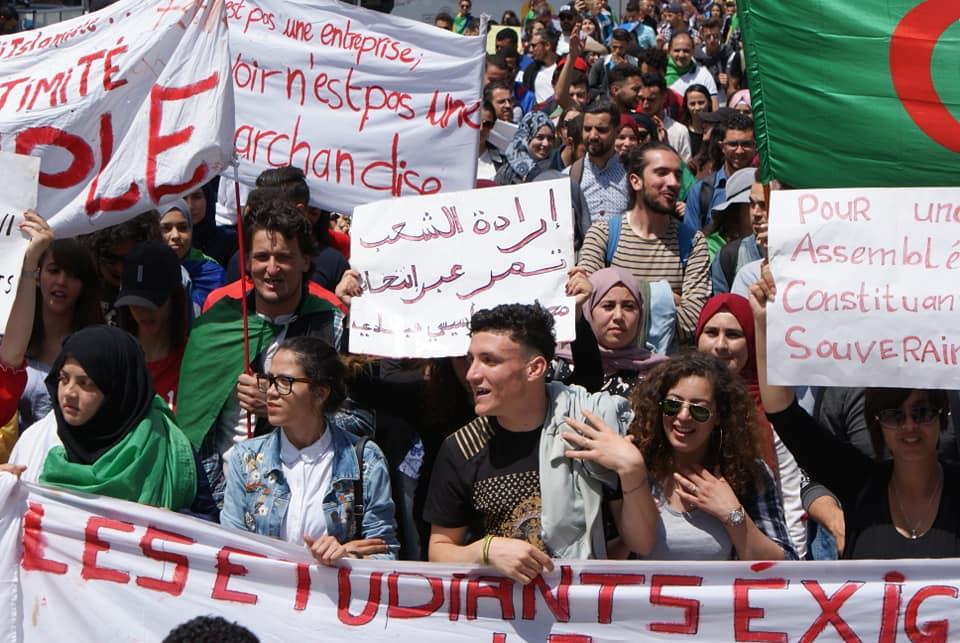 Manifestation des étudiants à Bejaia . MARDI 14 MAI 2019 2257