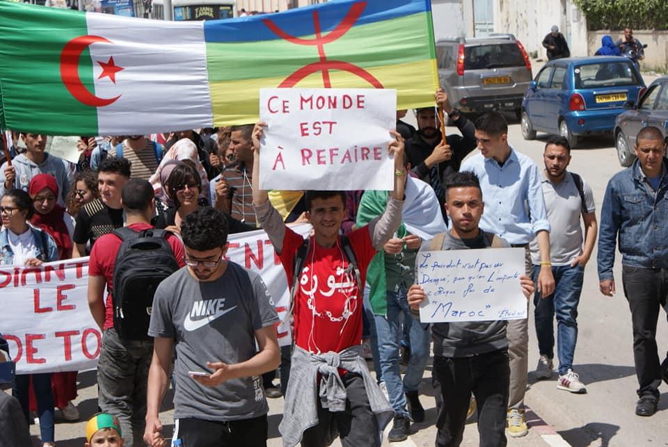 Manifestation des étudiants à Bejaia . MARDI 14 MAI 2019 2259
