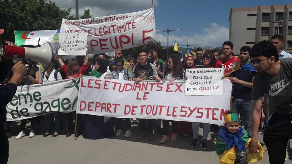 Manifestation des étudiants à Bejaia . MARDI 14 MAI 2019 2260