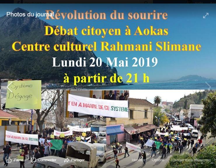 Révolution du sourire, débat citoyen à Aokas le lundi 20 mai 2019 2278