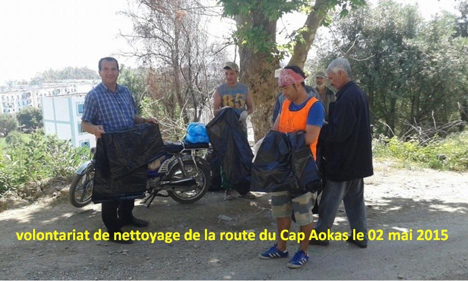 volontariat de nettoyage de la route du Cap à Aokas le 02 mai 2015 22810