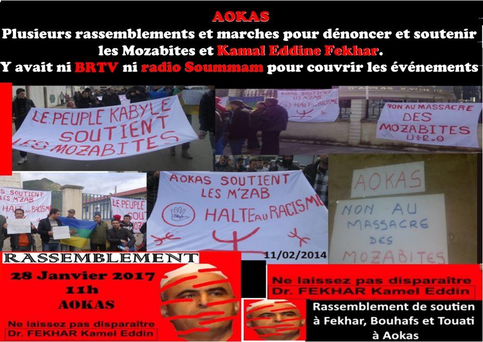 AOKAS Plusieurs rassemblements et marches pour dénoncer et soutenir les Mozabites et Kamal Eddine Fekhar. 2461
