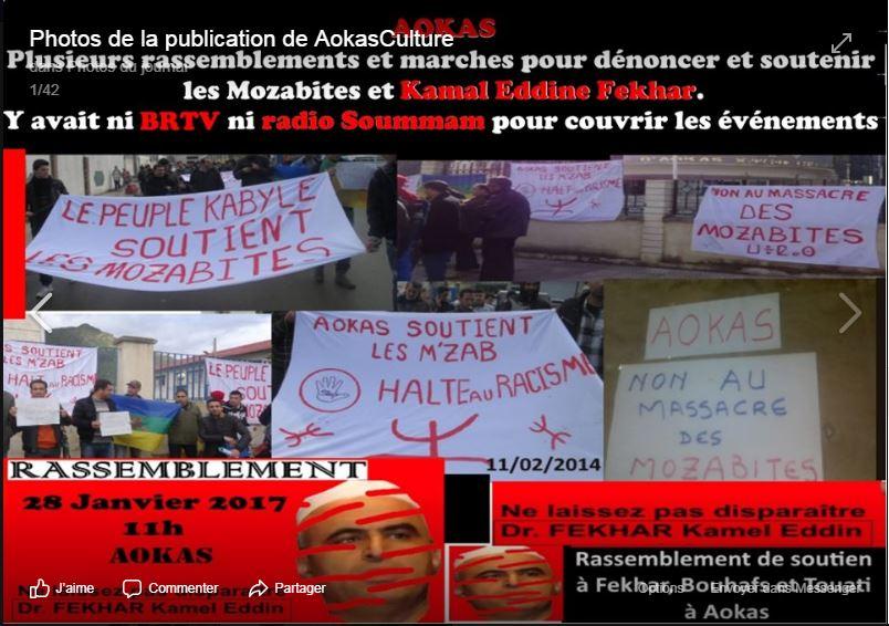 AOKAS Plusieurs rassemblements et marches pour dénoncer et soutenir les Mozabites et Kamal Eddine Fekhar. 2462