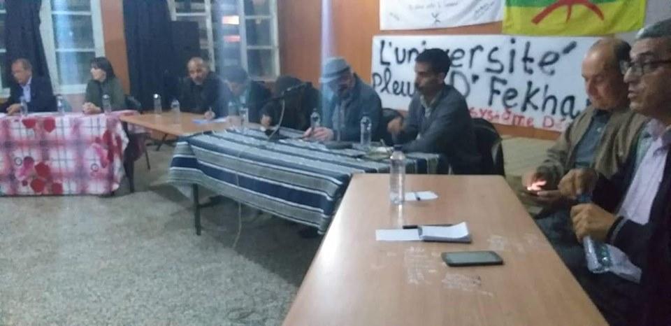 Conférence-débat autour de la révolutionnaire populaire en cours en Algérie à Aokas  2466