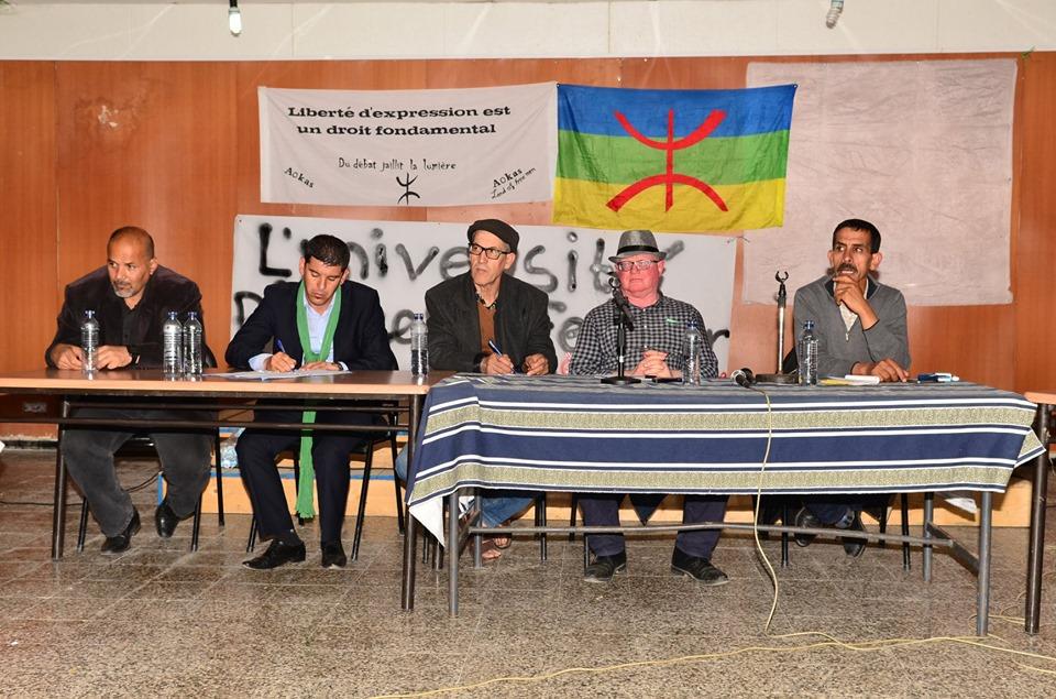 Conférence-débat autour de la révolutionnaire populaire en cours en Algérie à Aokas  2467