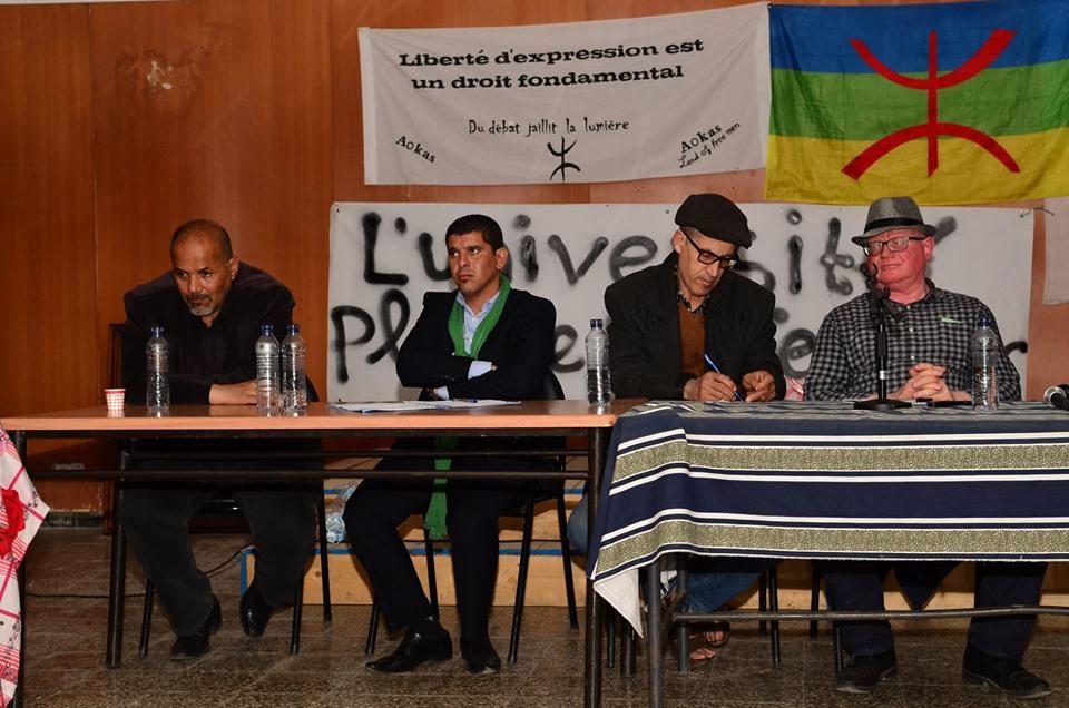 Conférence-débat autour de la révolutionnaire populaire en cours en Algérie à Aokas  2469