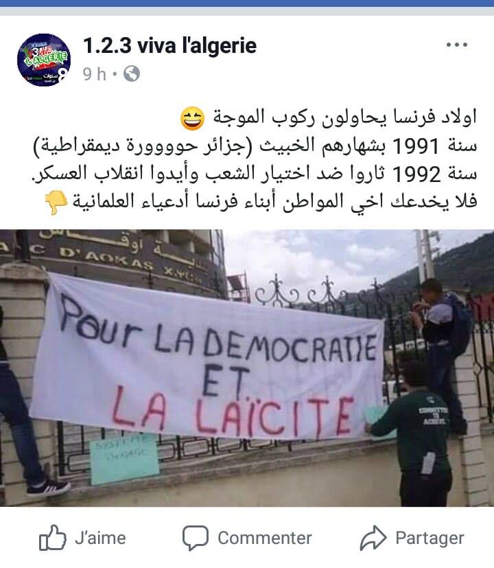Pour la démocratie et la laïcité  316