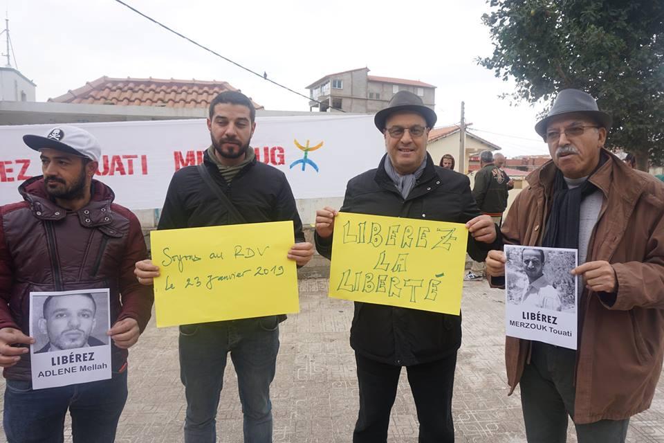 Rassemblement à Aokas pour demander la libération de Adlene Mellah et de tous les détenus d'opinion - Page 2 3414