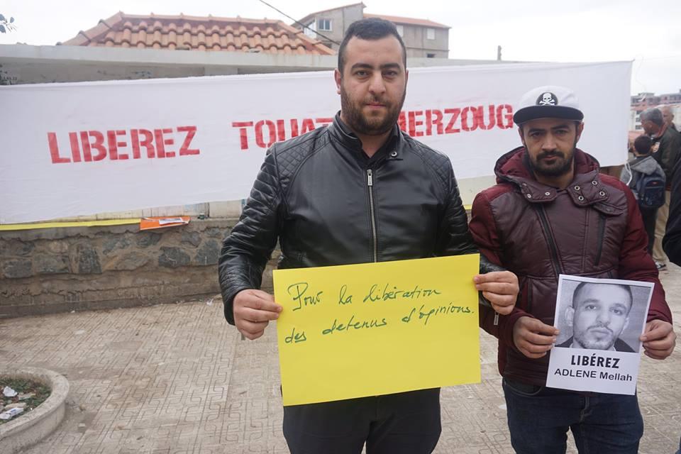 Rassemblement à Aokas pour demander la libération de Adlene Mellah et de tous les détenus d'opinion - Page 2 3712