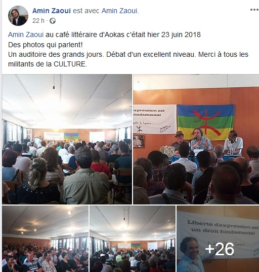 Amin Zaoui au café littéraire d'Aokas le samedi 23 juin 2018 - Page 2 3910