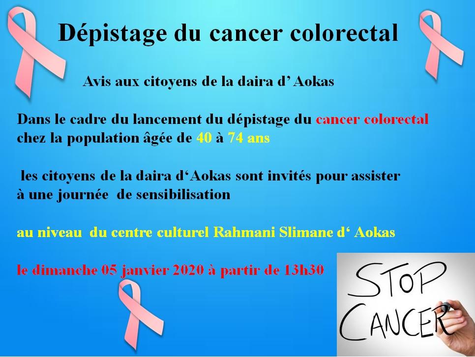 Dépistage du cancer colorectal à Aokas  440