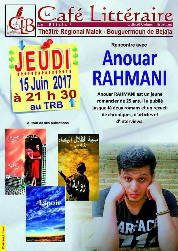 Béjaia apporte son soutien au jeune écrivain Anouar Rahmani 447