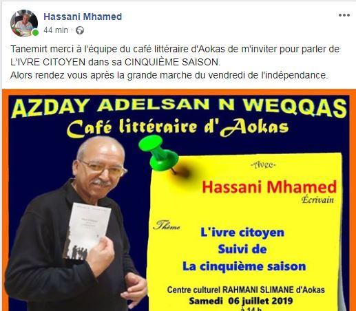 Mhamed Hassani à Aokas le samedi 06 juillet 2019 5101