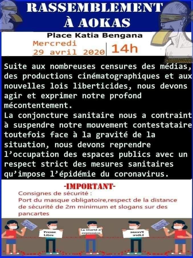 Rassemblement à Aokas le mercredi 29 Avril 2020 contre les lois liberticides et pour la liberté d'expression 5124