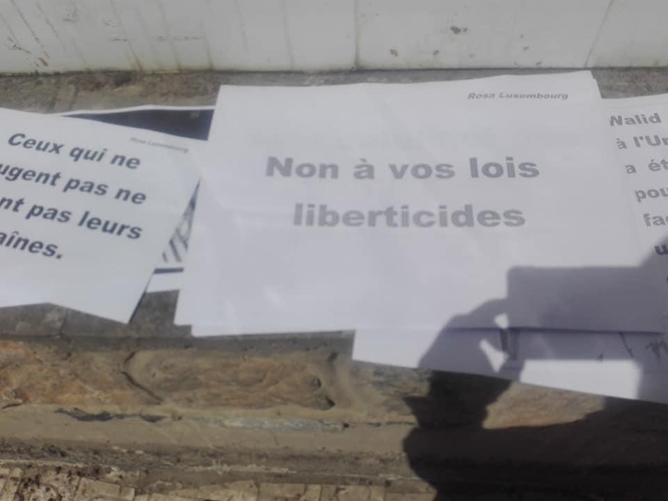 Rassemblement à Aokas le mercredi 29 Avril 2020 contre les lois liberticides et pour la liberté d'expression 5141