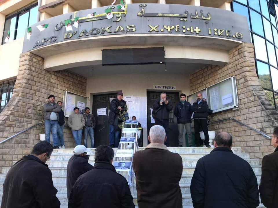 Action de soutien de toutes les sections SNAPAP pour le syndicaliste et militant Karim Djidjeli le 30/12/2020 5271