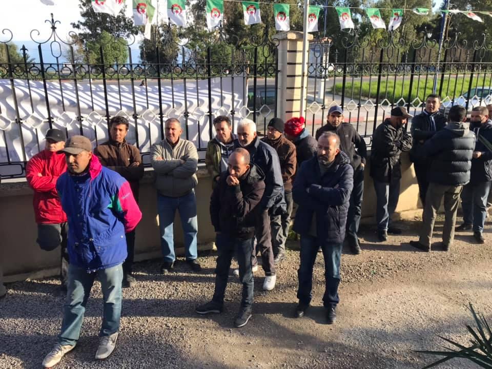 Action de soutien de toutes les sections SNAPAP pour le syndicaliste et militant Karim Djidjeli le 30/12/2020 5272