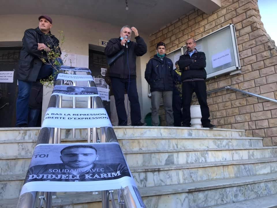 Action de soutien de toutes les sections SNAPAP pour le syndicaliste et militant Karim Djidjeli le 30/12/2020 5277