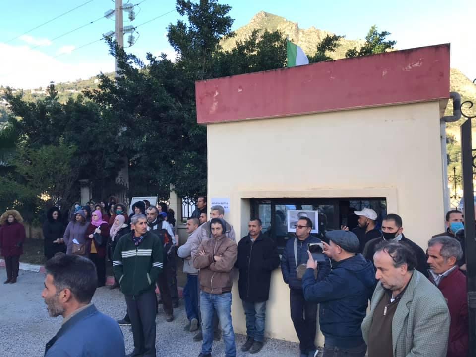 Action de soutien de toutes les sections SNAPAP pour le syndicaliste et militant Karim Djidjeli le 30/12/2020 5278