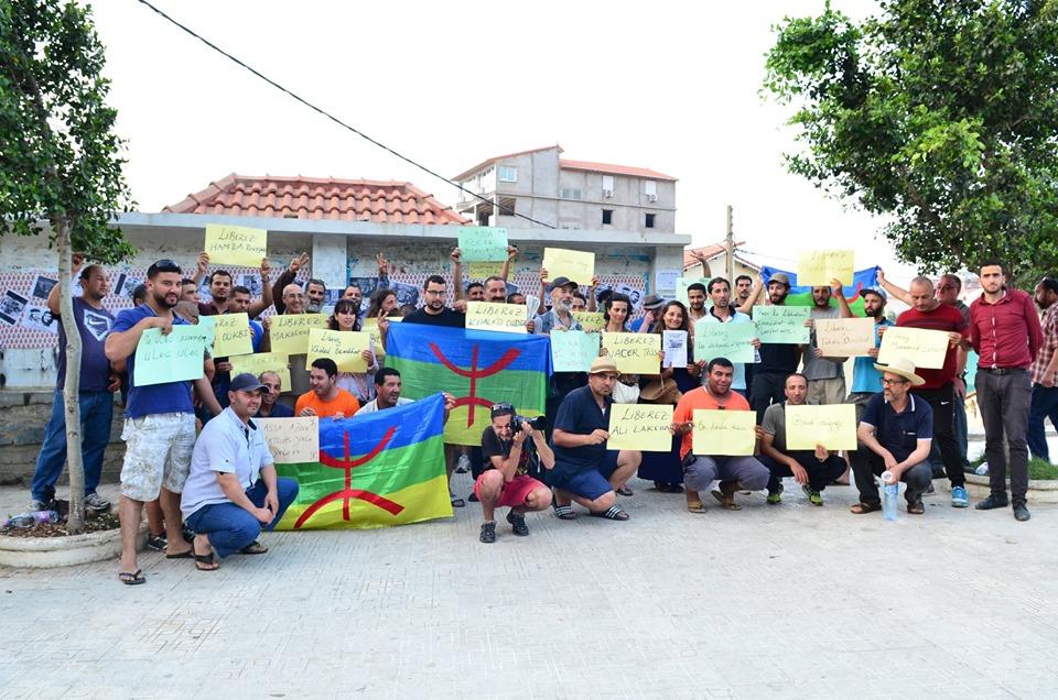 Rassemblement à Aokas pour exiger la libération des prisonniers du drapeau Amazigh 25 juin 2019 528