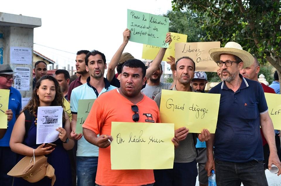 Rassemblement à Aokas pour exiger la libération des prisonniers du drapeau Amazigh 25 juin 2019 531