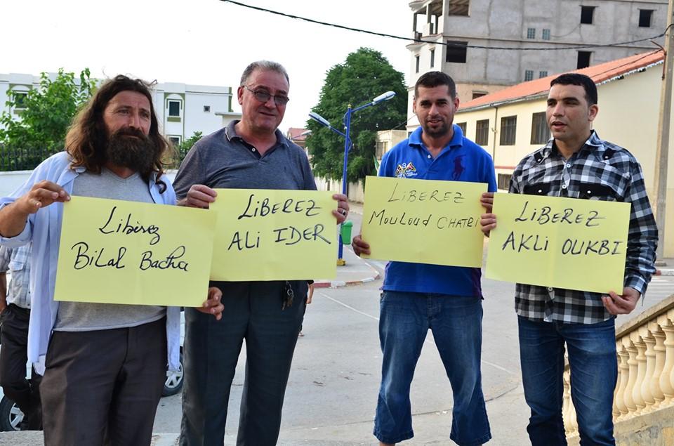 Rassemblement à Aokas pour exiger la libération des prisonniers du drapeau Amazigh 25 juin 2019 538