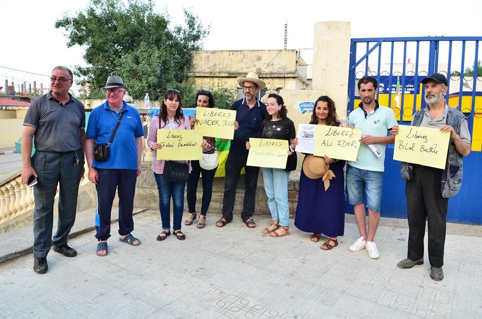 Rassemblement à Aokas pour exiger la libération des prisonniers du drapeau Amazigh 25 juin 2019 539