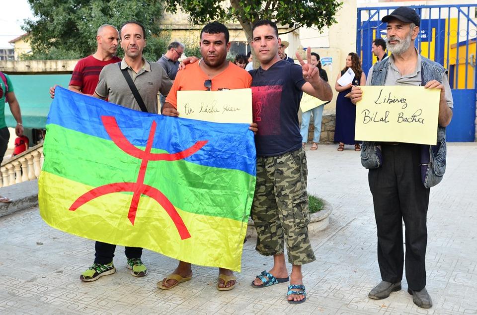 Rassemblement à Aokas pour exiger la libération des prisonniers du drapeau Amazigh 25 juin 2019 540