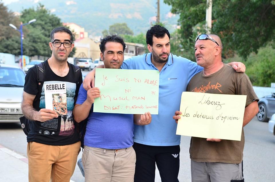 Rassemblement à Aokas pour exiger la libération des prisonniers du drapeau Amazigh 25 juin 2019 545