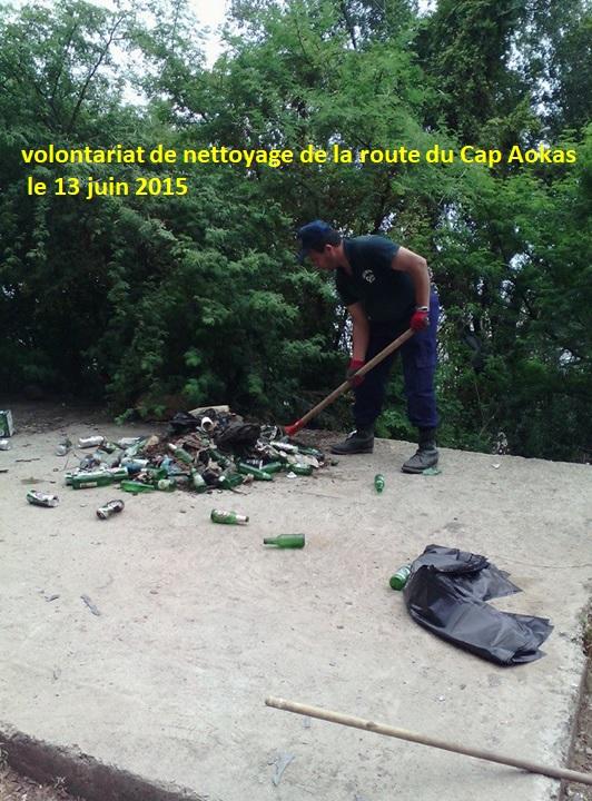 volontariat de nettoyage de la route du Cap  Aokas le 13 juin 2015 - Page 2 54510