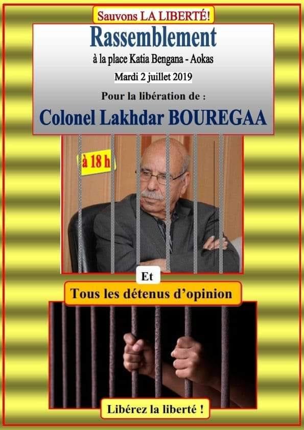 RASSEMBLEMENT À AOKAS POUR EXIGER LA LIBÉRATION DE LAKHDAR BOURGAA LE MARDI 02 JUILLET 2019 569