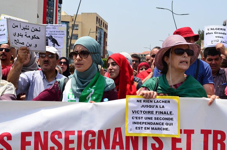 Bejaia: Mardi, 02 Juillet 2019. Dix-neuvième marche de la communauté universitaire pour dénoncer la justice aux ordres et exiger la libération de tous les détenus d'opinion. 576