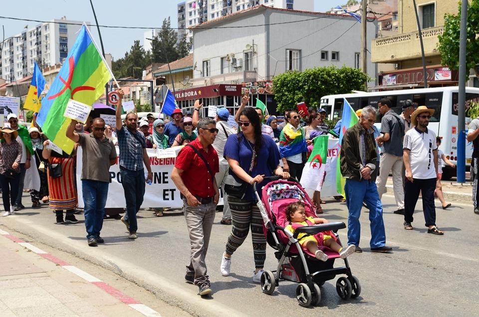 Bejaia: Mardi, 02 Juillet 2019. Dix-neuvième marche de la communauté universitaire pour dénoncer la justice aux ordres et exiger la libération de tous les détenus d'opinion. 581