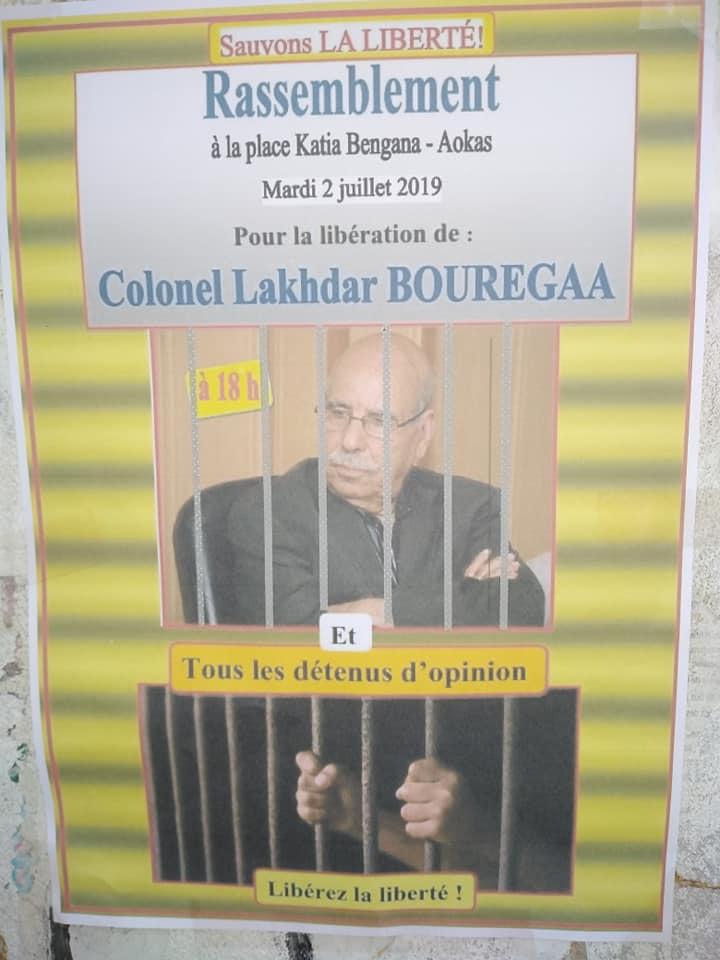 RASSEMBLEMENT À AOKAS POUR EXIGER LA LIBÉRATION DE LAKHDAR BOURGAA LE MARDI 02 JUILLET 2019 594
