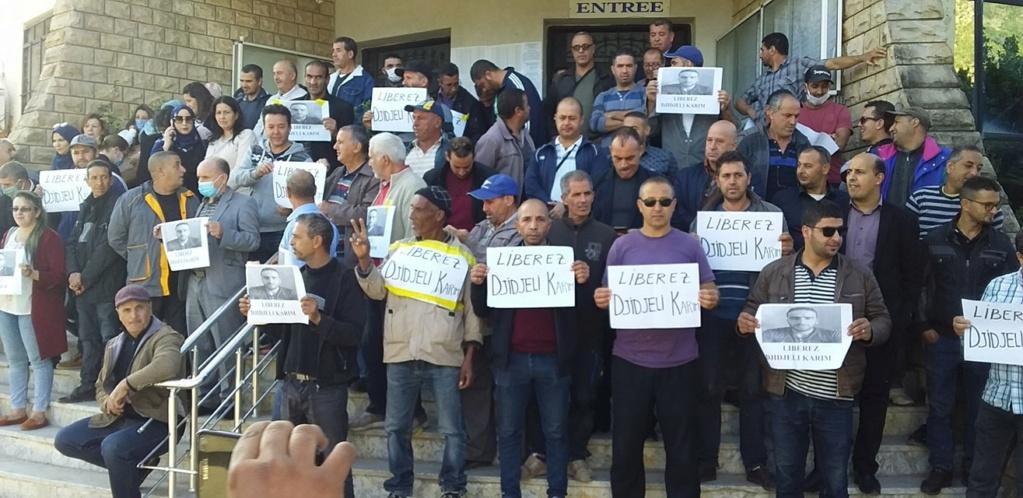 Rassemblement de soutien et de solidarité avec Karim Djidjeli à Aokas le lundi 26 octobre 2020 675