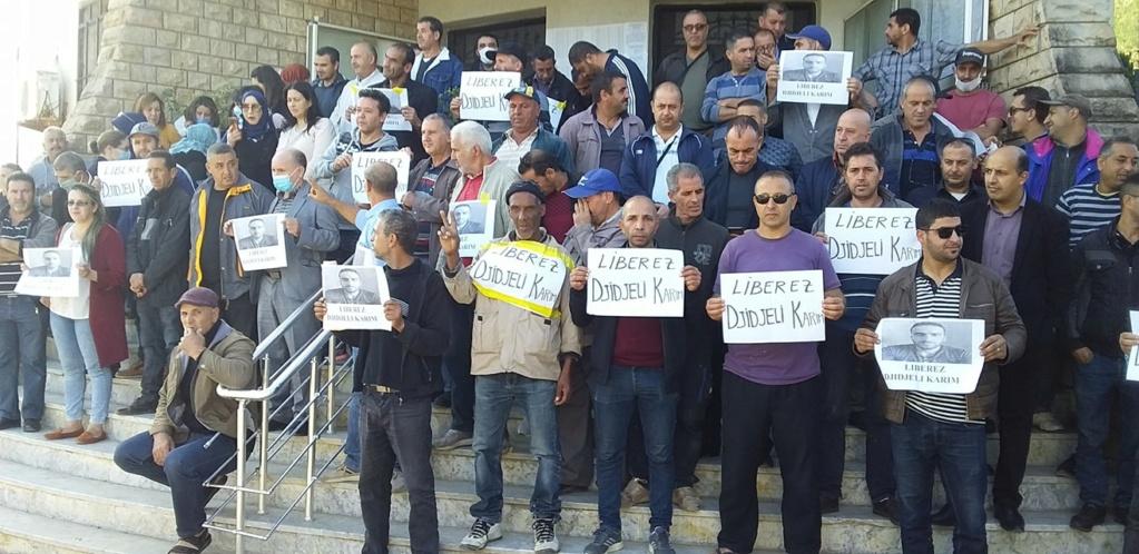 Rassemblement de soutien et de solidarité avec Karim Djidjeli à Aokas le lundi 26 octobre 2020 676