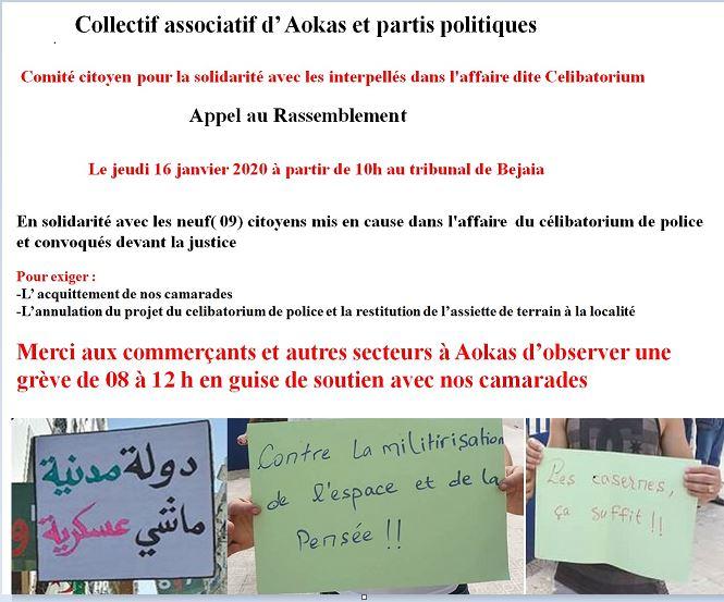 Comité citoyen pour la solidarité avec les interpellés dans l'affaire dite Celibatorium 730