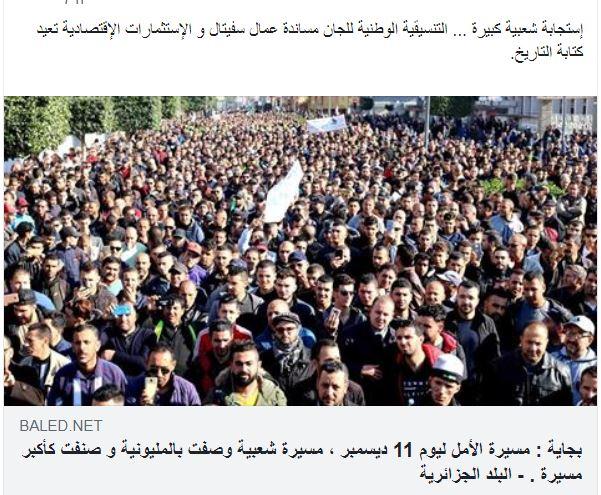 Des milliers de manifestants battent le pavé pour la cause de Cevital à Béjaïa 11 décembre 2018 Captur53