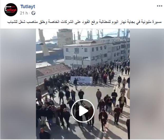 Des milliers de manifestants battent le pavé pour la cause de Cevital à Béjaïa 11 décembre 2018 Captur56