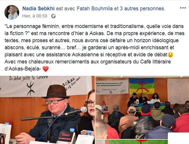 Excellente conférence de Nadia Sebkhi le samedi 02 février 2019 à Aokas - Page 2 Captur70