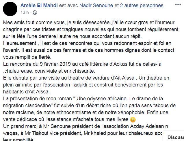 conférence de Améle El Mehdi à Aokas le samedi 09 février 2019 - Page 3 Captur72