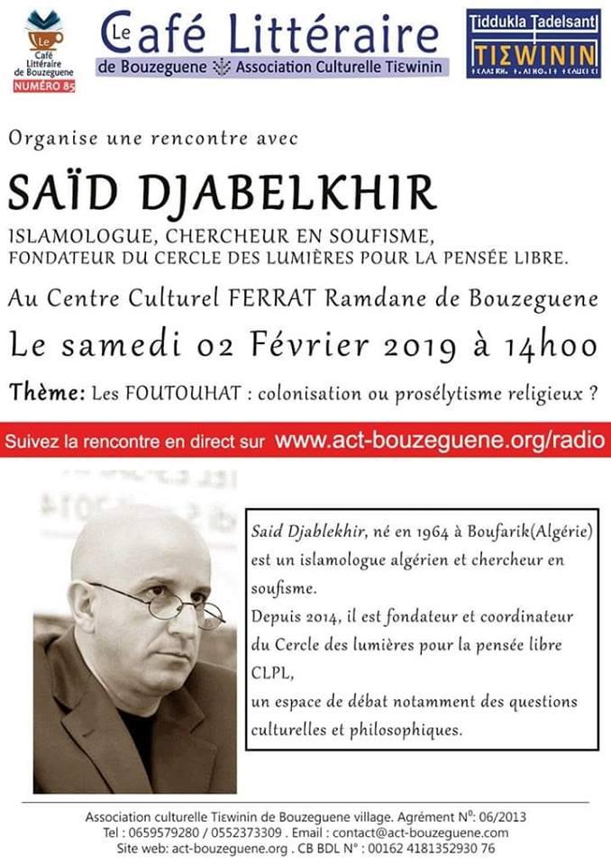 Said Djabelkhir à Bouzeguene le samedi 02 février 2019 Djabel10