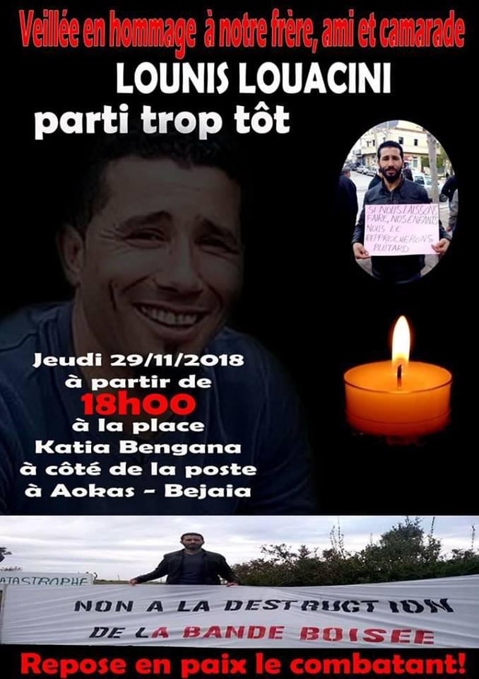 Aokas rend hommage à Lounis Louacini le jeudi 29 novembre 2018 Lounis11