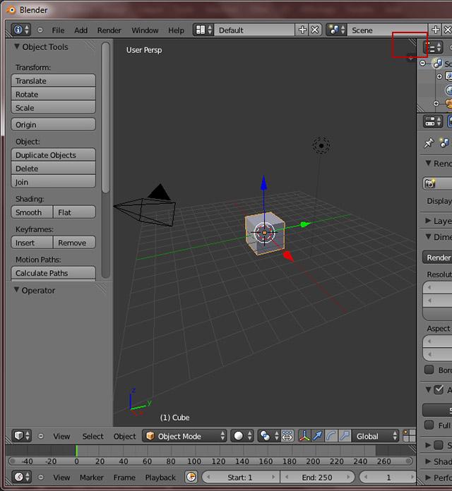 [Débutant] [Blender 2.6 et 2.7] Travailler avec plusieurs écrans Uvm210