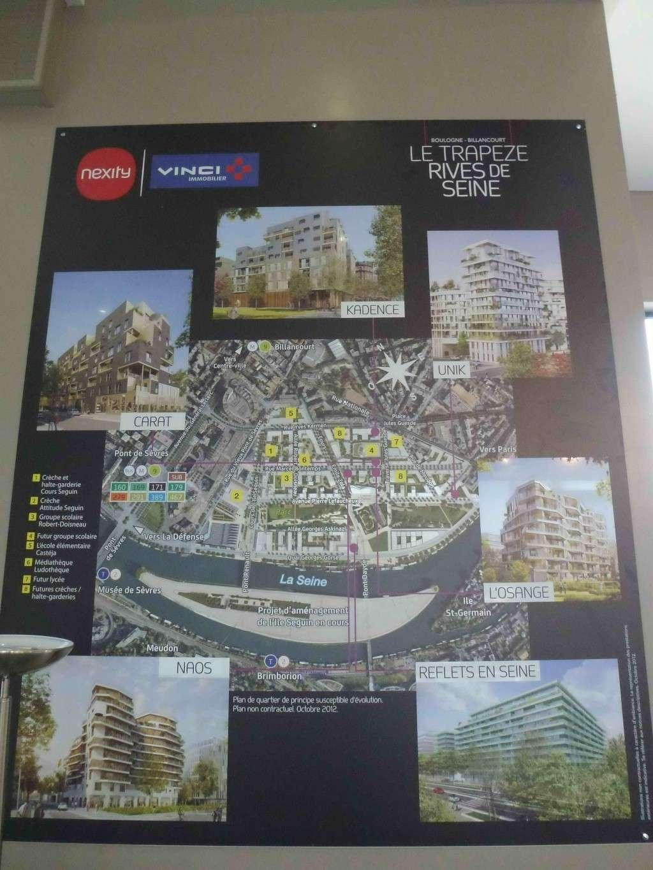 Plan du trapèze / nom des résidences et des rues P1020010