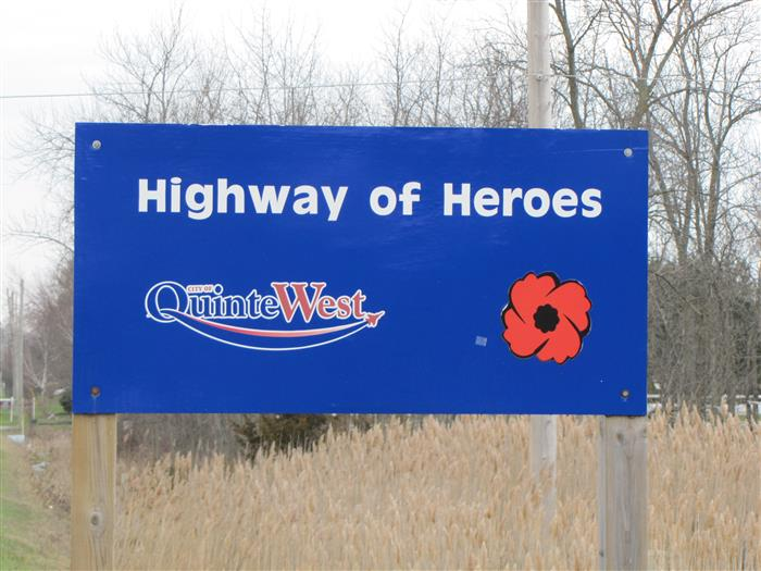 First Sign on the Highway of Heroes.  Img_2610